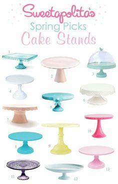 Beautiful cake stands...