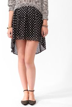 #Forever21                #Skirt                    #High-Low #Metallic #Dotted #Skirt                  High-Low Metallic Dotted Skirt                                                http://www.seapai.com/product.aspx?PID=106121