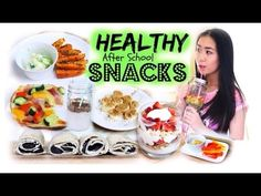 HEALTHY After School Snack ideas! ♡ Quick & Easy