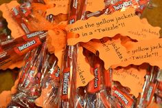 many ideas on this page http://smithtx.blogspot.com/2012/09/football-friday-candy-grams.html