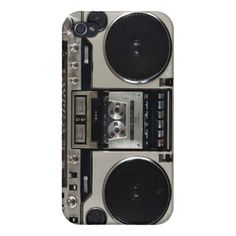 Boombox Vintage iPhone Case Case For iPhone 4