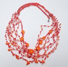 Hey, I found this really awesome Etsy listing at https://www.etsy.com/listing/251431025/ethnic-jewelry-orange-garden-floral-long