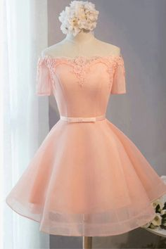 Homecoming Dress 2018 Pink Short Prom Dress Party Dress #homecomingdresses  shortpromdresses partdress  sweetdresses