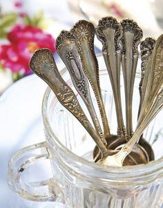 Antique formal silverware