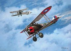Fifth Victory, by Roy Grinnell (Nieuport 28)