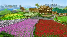 Breathtaking Minecraft Flower Farm People love Minecraft due to three simple factors, ownership, replayability plus Minecraft Farmen, Construction Minecraft, Minecraft Building Guide, Minecraft Tutorial, Minecraft Blueprints, Cool Minecraft Houses, Minecraft Crafts, Minecraft Buildings, Minecraft Japanese House