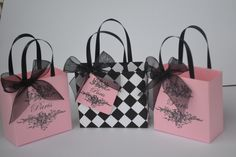 Paris party favor bags for any occasion by steppnout on Etsy