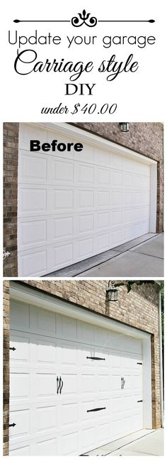 #Diy #Carriagegaragedoor in an hour. #Curbappeal
