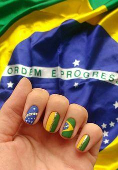 Ideias de Unhas para Copa do Mundo Flag Nails, Art Nails, Hair Health, Manicures, Nail Ideas, Travel, Beauty, Nails At Home, Girls Nails