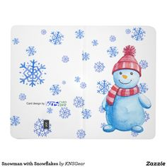 Snowman with Snowflakes journal, pocket journal