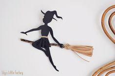 Une Jolie Sorcière Sur Son Balai {DIY En Papier}   Lily's Little Factory - Blog DIY - Bretagne