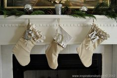 #DIY: #Handmade #Stockings --Inspirations by D #christmas #holidays, #handmadestockings, #diystockings