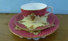 Royal Worcester tea cup Trio C1912