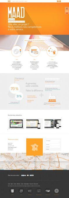 Maad - agency - website creation - Best website, web design inspiration showcase