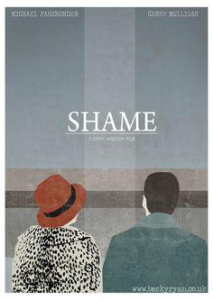 Michael Fassbender, Carey Mulligan | Shame Minimalist Poster.