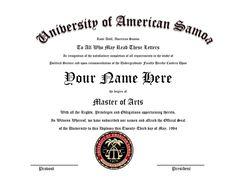 Better Call Saul Diploma for Customization--University of American Samoa #bettercallsaul #universityofamericansamoa by EverBlueIndustries on Etsy