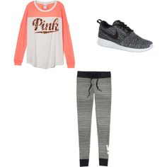 Untitled #6 by emdecocq on Polyvore featuring polyvore, fashion, style, Victoria's Secret and NIKE