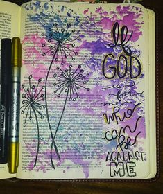 Bible Journaling by Brooke Hughston Veazey @veazeygirl | Romans 8:31