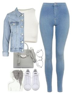 """""""#Style"""" by rosana-storyofmylife ❤ liked on Polyvore featuring Topshop, Free People, Balenciaga, adidas and Ray-Ban"""