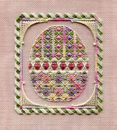 Two-Handed Stitcher- Laura J Perin Designs (3 of 4) Easter Egg Ornaments