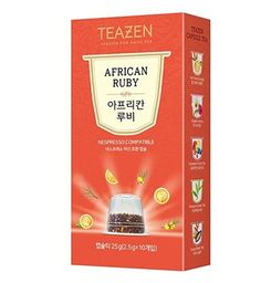 TEAZEN African Ruby Capsule Tea for Nespresso Machine (10-Count Box ) •COMPATIBILITY •EASY TO DRINK •DEEP AND RICH FLAVOR •ALWAYS SAME FLAVOR AND FRAGRANCE •ENJOY COOL ICED TEA ALL YEAR  #tea #capsule #Nespresso #drinkingtea #aroma #flavor #fragrance #cool #korean #koreanproduct