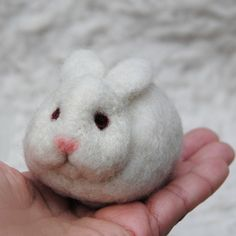 Needle Felted Rabbit  READY TO SHIP by willane on Etsy, $10.00 I need like 20 of these!!!!! <3
