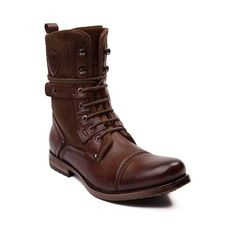 Tie your look together with the edgy new Deploy Boot from J75 by Jump! The J75 Deploy Boot rocks a combat boot design constructed with synthetic leather and canvas uppers, fixed ankle strap detail, and side zipper for easy entry. <b>Available only at Journeys!</b>  <br><br><u>Features include</u>:<br> > Synthetic leather and canvas combination upper<br> > Lace closure offers a secure fit<br> > Side zipper provides easy slip-on and off<br> > Lightly padded tongue and collar for maximum…
