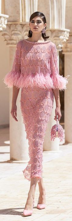 Im So Fancy, Glamour Beauty, Evening Dresses, Formal Dresses, Georges Hobeika, Everything Pink, Mother Of The Bride, Bride Groom, Pretty In Pink
