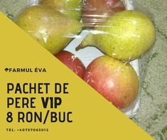 8 ron/pack Fresh Fruits And Vegetables, Pear, Packaging, Canning, Food, Essen, Meals, Wrapping, Home Canning