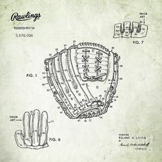 For the baseball nerd ballpark blueprints baseball wall art 1971 baseball glove square patent art in black on parchment united states patent awarded to malvernweather Images