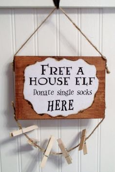 House Elf Dobby Laundry Room SignA fun place to by LetterThings