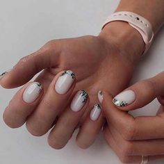 Rounded Acrylic Nails, Cute Acrylic Nails, Cute Nails, Pretty Nails, Acrylic Nails Designs Short, Short Nail Manicure, Gel Nails, Manicure Ideas, Coffin Nails