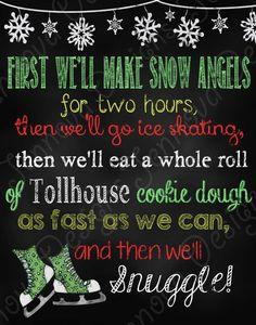 1114 Elf Movie Quote Christmas chalkboard printable by JennovaDesigns $8.50