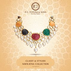 Your #wedding day will be revisited most by you. Make those moments more memorable with classy & stylish Navratna collection by P.C. Totuka & Sons.  #Wedding #Bridal #BridalCollectionction #Brides Jewelry #Navratna #Jaipur #WeddingCollection  #Contemporary #Authentic #Gold #Pearl