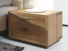 Solid wood bedside table with drawers CELESTINO - Riva 1920