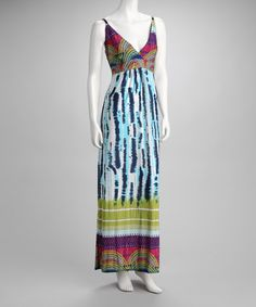 Take a look at this Blue & Purple Maxi Dress by Just Love on #zulily today! $16.99, regular 54.00
