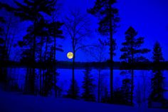 Snow Moon by Greg Hefner; LOVE THIS BLUE