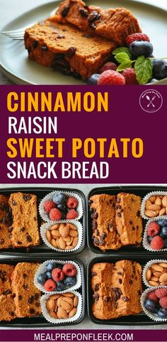Cinnamon Raisin Sweet Potato Snack Bread - Cinnamon Raisin Sweet Potato Snack bread is a sweet and satisfying treat to enjoy for breakfast or snack with a hot cup of tea. Gluten Free. Paleo. #glutenfree #glutenfreerecipes #paleo #paleorecipes