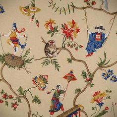 India pied-à-terre | Chinese Chinoiserie Wallpaper | http://indiapiedaterre.com , Scalamandre's Ming Circus design