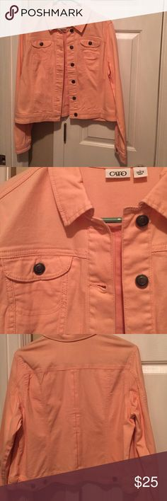 Cute lightweight jacket. Light pink salmon color. Worn twice. Cato Jackets & Coats