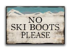 Wooden ski patrol sign framed out in reclaimed by DesignHouseDecor