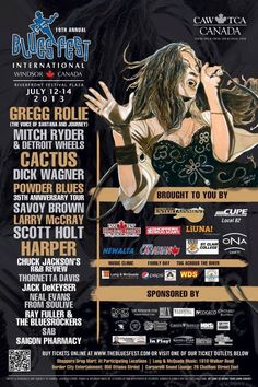 2013 Gregg Rolie, Festival Plaza, Savoy Brown, Windsor Canada, 35th Anniversary, Greggs, Festival Posters, Over The Years, Blues