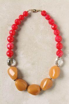 Anthropologie - Colorblocked Strands Necklace