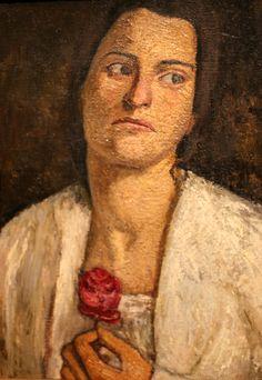 """Portrait en buste de la sculptrice Clara Rilke-Westhoff"", 1905 de Paula Modersohn-Becker © Photo Éric Simon"
