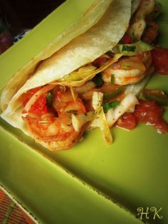 Tips~ Double up on the corn tortillas when preparing soft tacos. This will prevent tortillas from tearing and makes for a heartier taco.