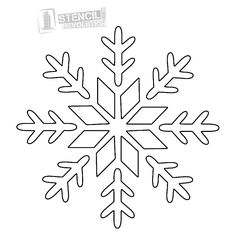14 best snowflake stencil images christmas crafts christmas