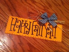 I wanna make a Happy Fall Y'all sign Fall Halloween, Halloween Crafts, Halloween Decorations, Halloween Ideas, Burlap Projects, Craft Projects, Wood Projects, Craft Ideas, Fall Crafts
