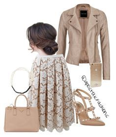 A fashion look from September 2015 featuring maurices jackets, Michael Kors skirts and Valentino pumps. Browse and shop related looks. Fancy Dress Outfits, Modest Outfits, Classy Outfits, Pretty Outfits, Beautiful Outfits, Cute Outfits, Stylish Outfits, Dress Shoes, New Fashion Clothes