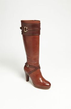 My kind of boot...the right shaoed heel & the right curve to the toe of the boot! Brown is cool...Black is better!    Cole Haan 'Poppy' Boot (Nordstrom Exclusive) available at #Nordstrom