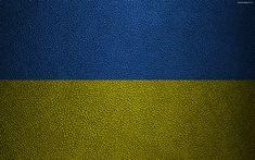 Download wallpapers Flag of Ukraine, 4k, leather texture, Ukrainian flag, Europe, flags of Europe, Ukraine